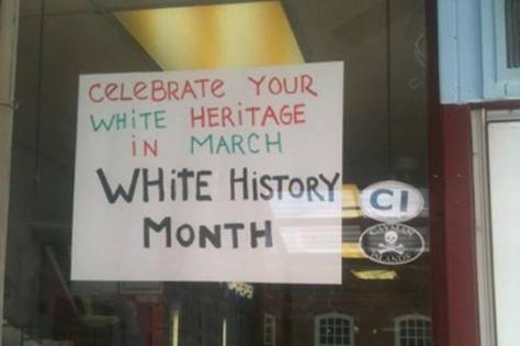 White history Month sign