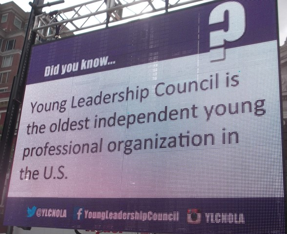 Young Leadership Council signage