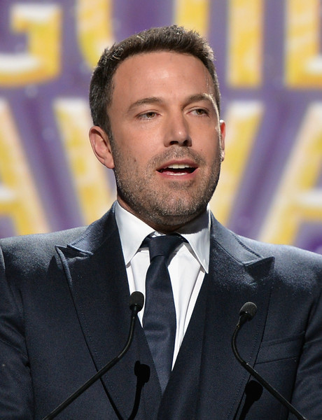 Ben Affleck accepts the Valentine Davies Award onstage at the 2015 Writers Guild Awards L.A. Ceremony at the Hyatt Regency Century Plaza on February 14, 2015 in Century City, California