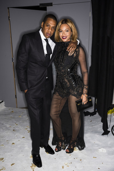 Jay Z and singer Beyonce attend the TOM FORD Autumn/Winter 2015 Womenswear Collection Presentation at Milk Studios on February 20, 2015 in Los Angeles, California.