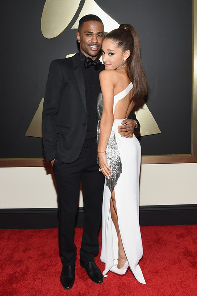 Rapper Big Sean and Singer Ariana Grande attend The 57th Annual GRAMMY Awards at the STAPLES Center on February 8, 2015 in Los Angeles, California