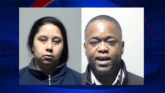 Booking photos of Monique Dillard-Bothuell, left, and Charles Bothuell IV .
