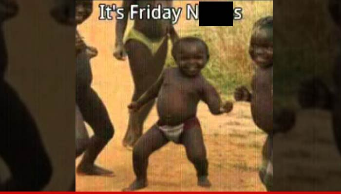 dancing african child -its friday niggas