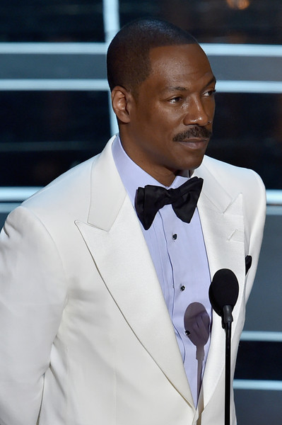 Actor Eddie Murphy speaks onstage during the 87th Annual Academy Awards at Dolby Theatre on February 22, 2015 in Hollywood, California