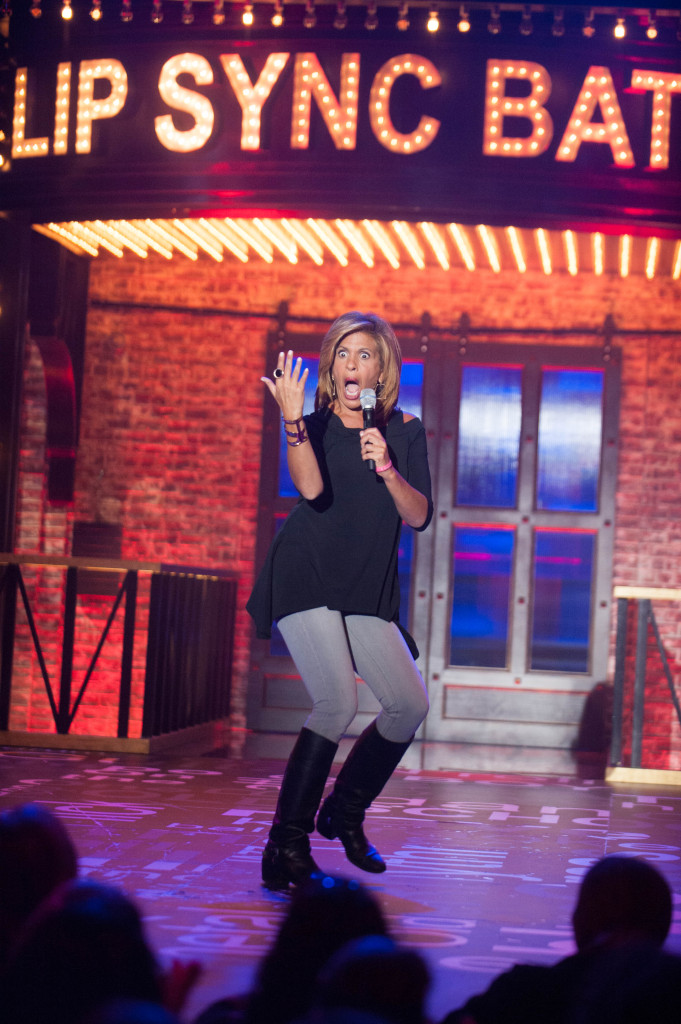 Lip Sync Battle on January 20, 2015 with Michael Strahan and Hoda Kotb.