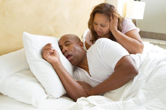 man snoring - wife bothered