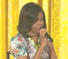 michelle obama (responds to little girl1)