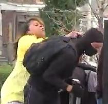 mother smacks son at baltimore riot1