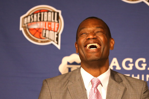 Dikembe Mutombo smiles during the Naismith Memorial Basketball Hall Of Fame 2014 Class Announcement at the JW Marriott on April 6, 2015 in Indianapolis, Indiana