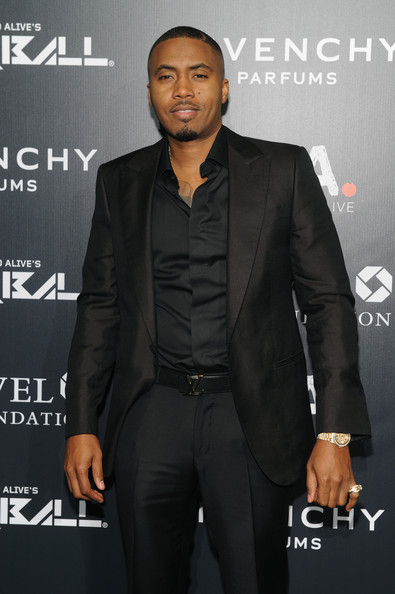 Rapper Nas attends the 9th annual Keep A Child Alive Black Ball at Hammerstein Ballroom on October 30, 2014 in New York City