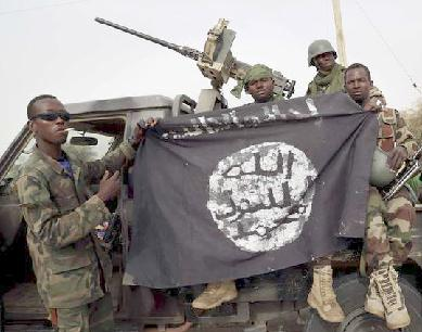 nigerian troops hold boko haram flag1