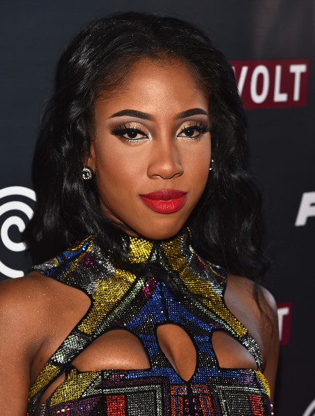 """Sevyn Streeter attends Revolt Live Hosts Exclusive """"Furious 7"""" Takeover with Musical Performances From the Official Motion Picture Soundtrack at Revolt Live Studios on April 1, 2015 in Hollywood, California"""