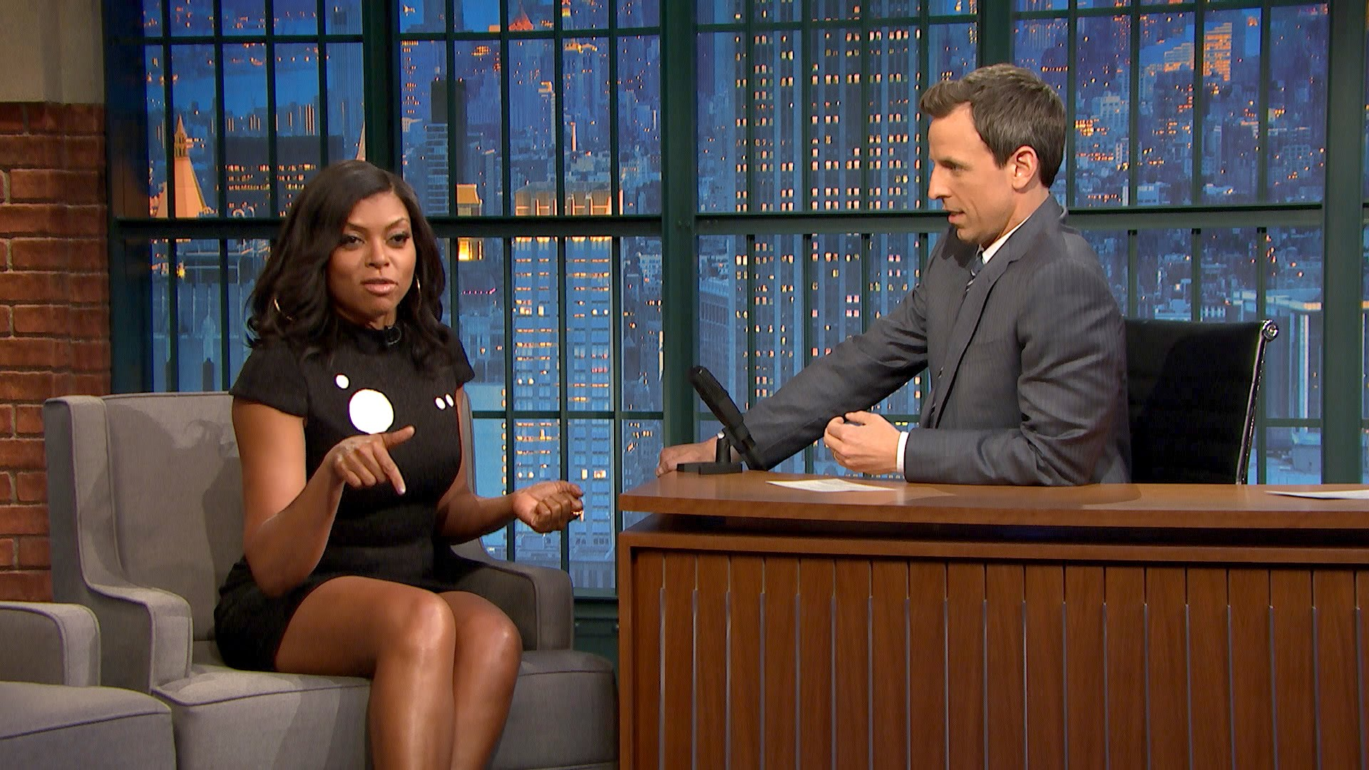 Taraji P. Henson on Improvising Cookie Lyon's Insults - Late Night with Seth Meyers