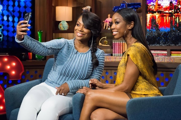 WATCH WHAT HAPPENS LIVE -- Episode 12069 -- Pictured: (l-r) Kandi Burruss, Brandy Norwood -- (Photo by: Charles Sykes/Bravo)