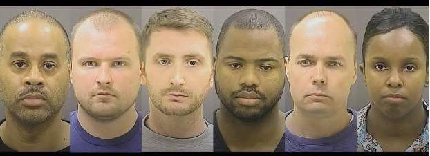 6 baltimore police officers in freddie gray death