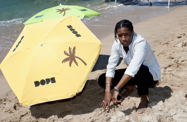 """Rapper ASAP Rocky attends a photocall for """"Dope"""" during the 68th annual Cannes Film Festival on May 22, 2015 in Cannes, France"""