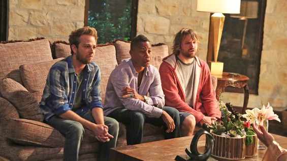 """(L-R) Alex Anfanger, Cuba Gooding Jr and Lenny Jacobson in Comedy Central's """"Big Time in Hollywood, FL"""""""