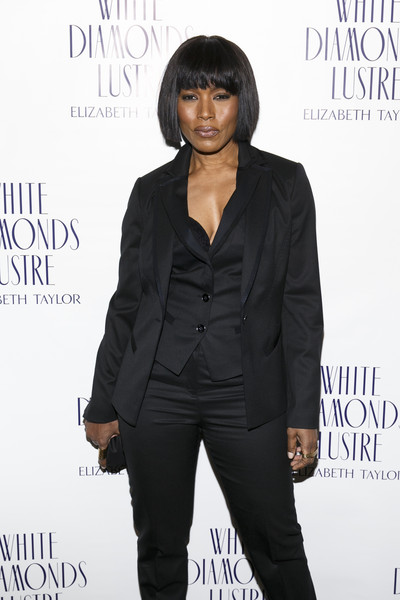 Actress Angela Bassett arrives at the Alfre Woodard's Oscar's Sistahs Soiree by White Diamond Lustre, Elizabeth Taylor at the Beverly Wilshire Hotel on February 18, 2015 in Beverly Hills, California