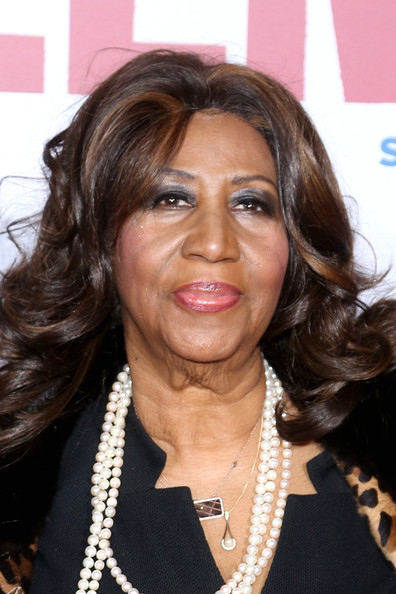 """Singer Aretha Franklin attends the """"Selma"""" New York Premiere at Ziegfeld Theater on December 14, 2014 in New York City"""