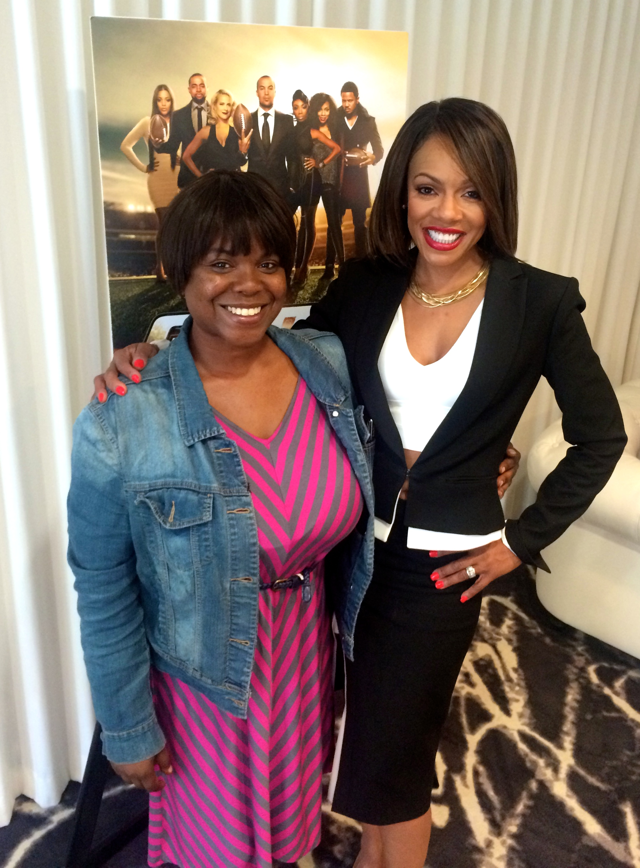 """Wendy Raquel Robinson of """"The Game"""" & EURweb associate Ny MaGee."""