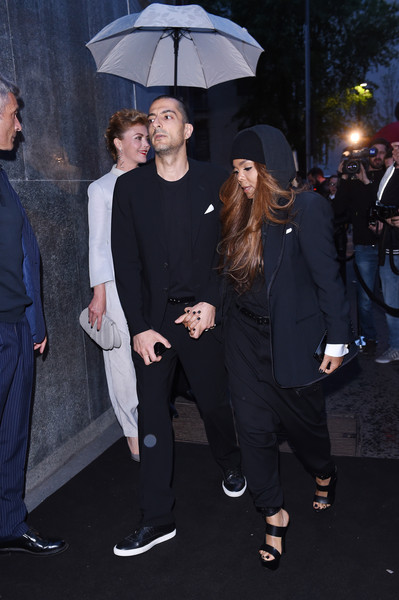 Wissam Al Mana and Janet Jackson attend the Giorgio Armani 40th Anniversary Dinner Reception at Nobu on April 29, 2015 in Milan, Italy
