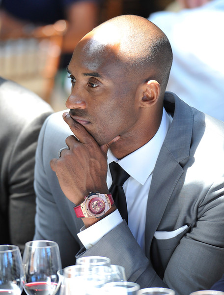 Kobe Bryant attends the Hublot celebration of their new timepiece at Napa Valley Reserve on April 29, 2015 in St Helena, California