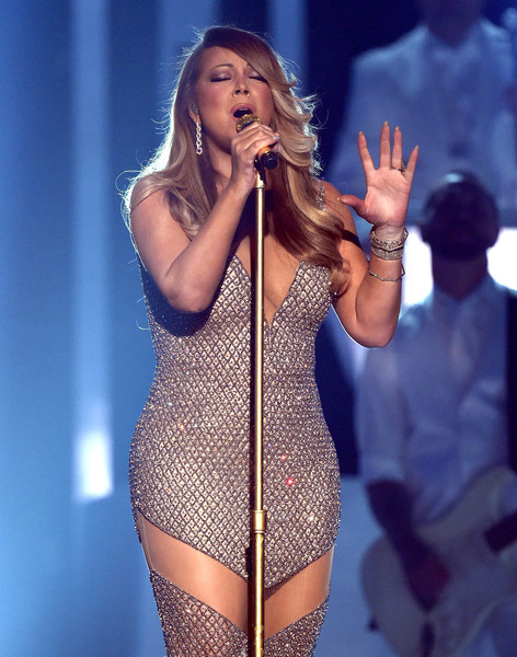 Mariah Carey performs onstage during the 2015 Billboard Music Awards at MGM Grand Garden Arena on May 17, 2015 in Las Vegas, Nevada
