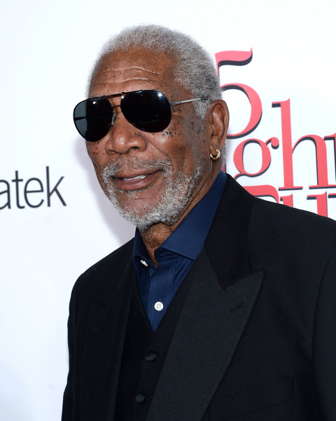 """Actor Morgan Freeman attends the """"5 Flights Up"""" New York premiere at BAM Rose Cinemas on April 30, 2015 in New York City"""