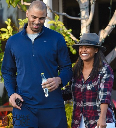 nia long and ime udoka shop at fred seals.