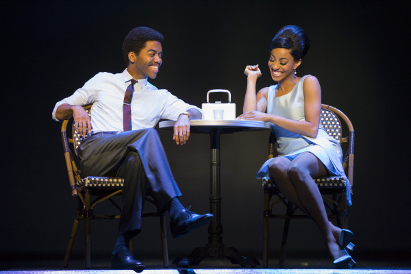Julius Thomas III as Berry Gordy, Jr. (L) and Allison Semmes as Diana Ross (R)