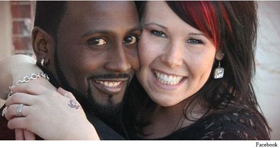 """Previously misidentified as her boyfriend, Shaynna Simms poses here with her """"husband"""""""