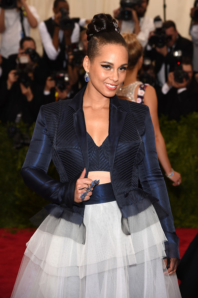 "Alicia Keys attends the ""China: Through The Looking Glass"" Costume Institute Benefit Gala at the Metropolitan Museum of Art on May 4, 2015 in New York City"