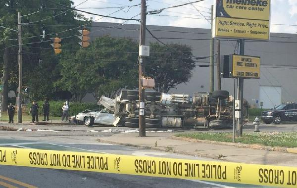 andrew young accident scene