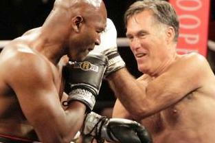 holyfield vs romney (in the ring)