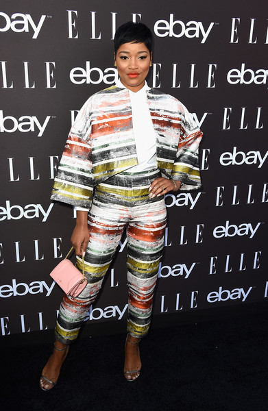 Actress Keke Palmer arrives at the 6th Annual ELLE Women In Music Celebration Presented By eBayat Boulevard3 on May 20, 2015 in Hollywood, California