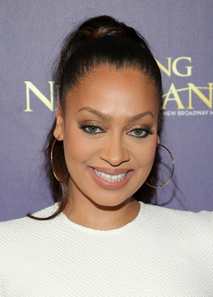 "Media personality LaLa Anthony attends the opening night of ""Finding Neverland"" at Lunt-Fontanne Theatre on April 15, 2015 in New York City"