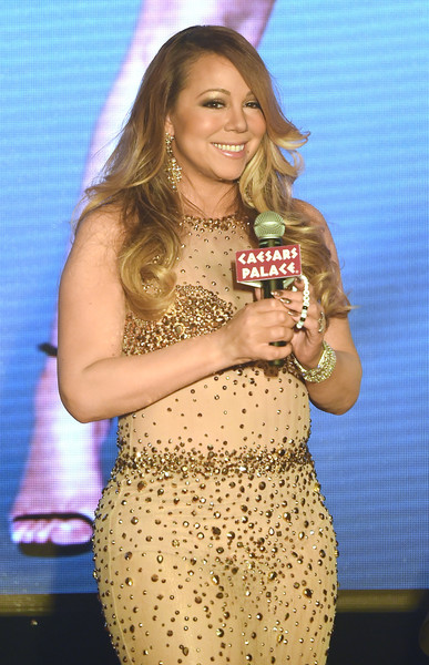 """Singer/songwriter Mariah Carey arrives at The Colosseum at Caesars Palace to launch her residency """"MARIAH #1 TO INFINITY"""" on April 27, 2015 in Las Vegas, Nevada."""