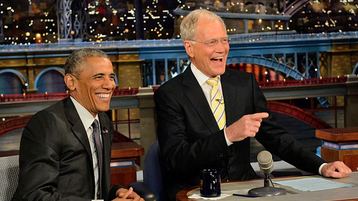 President Barack Obama in 'The Late Show with David Letterman.' John Paul Filo/CBS