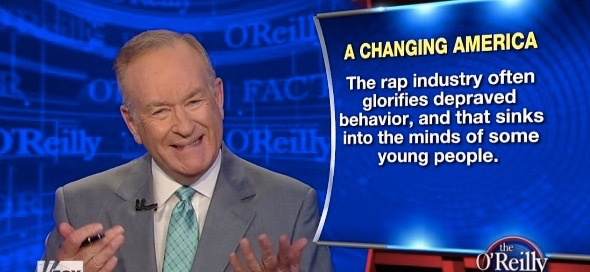 o'reilly blames rap again