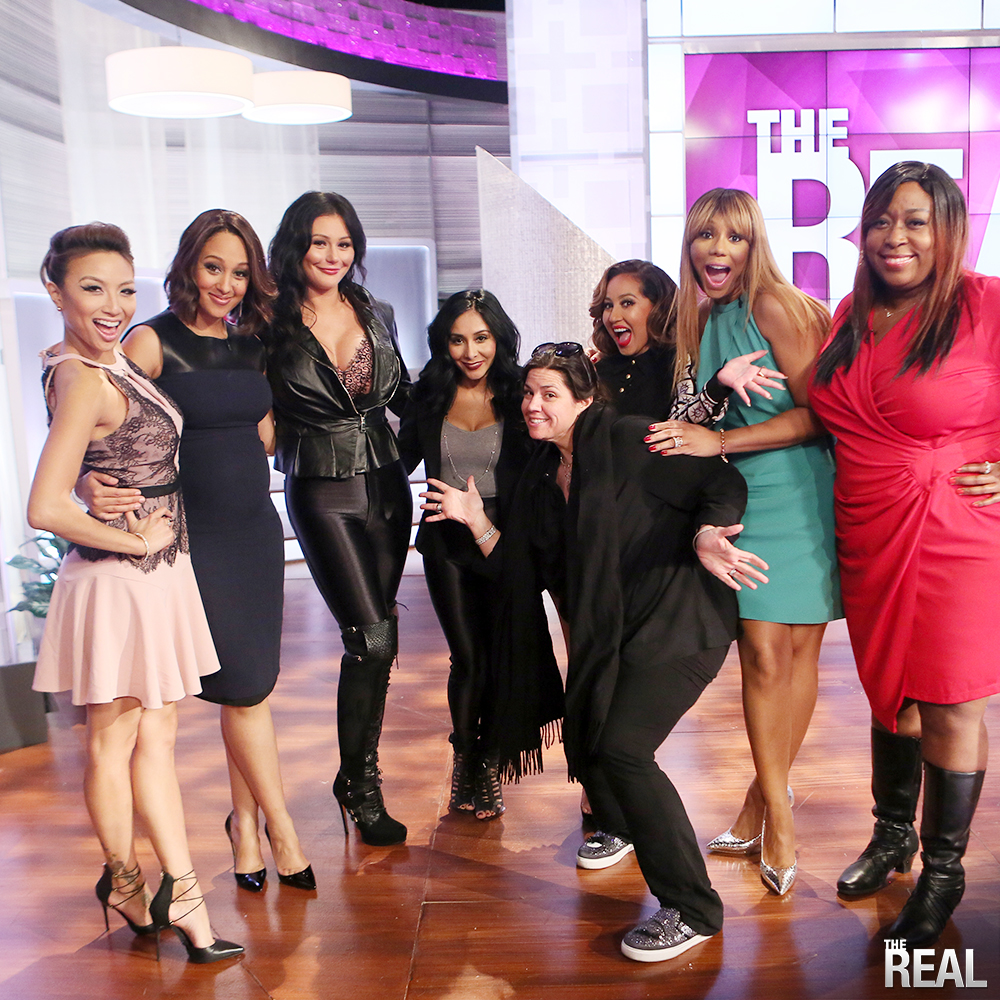 Snooki and JWoww stop by 'The Real' to reunite with show creator SallyAnn Salsano
