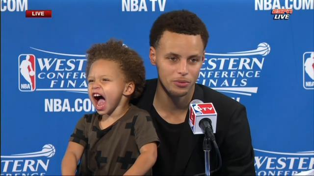 stephen curry and Riley2