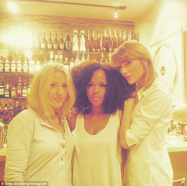 Elle Goulding, Serayah McNeil and Taylor Swift