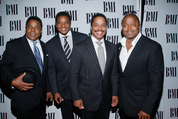From left: Brothers Tito, Jackie, Marlon and Randy Jackson arrive at the 8th Annual BMI Urban Awards at the Wishire Theatre on September 4, 2008 in Los Angeles, California