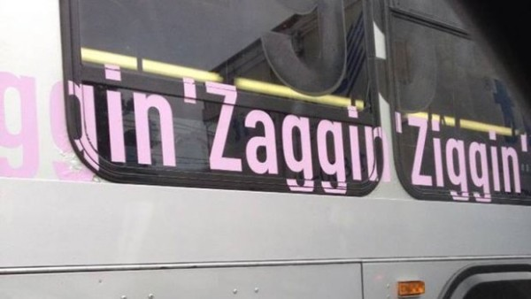 Bus slogan called offensive