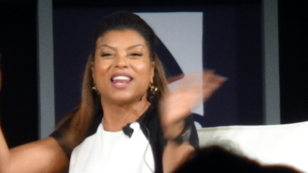 Taraji entertaining the crowd as only she can do!