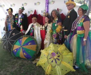 Long Beach Bayou Festival King and Queen and the LALA Secondline Dancers: Photo Credit, Ricky Richardson