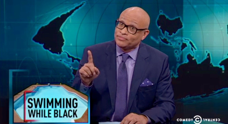 Larry Wilmore Swimming While Black