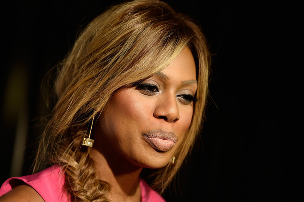 Actress Laverne Cox arrives at The Feminist Majority Foundation's 10th Annual Global Women's Rights Awards, with Urban decay Honoering Shonda Rhimes and Jenji Kohan at Pacific Design Center on May 18, 2015 in West Hollywood, California