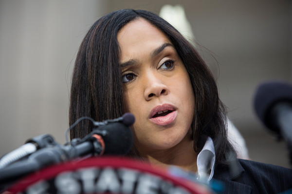 Baltimore City State's Attorney Marilyn J. Mosby announces that criminal charges will be filed against Baltimore police officers in the death of Freddie Gray on May 1, 2015 in Baltimore, Maryland. Gray died in police custody after being arrested on April 12, 2015