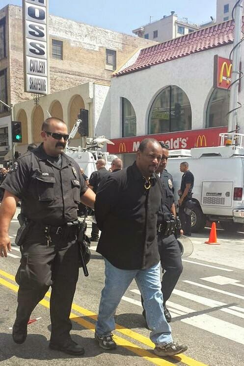 Najee Ali Being Arrested